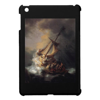 Vintage Jesus calming storm painting Case For The iPad Mini