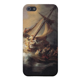 Vintage Jesus calming storm painting Cover For iPhone SE/5/5s