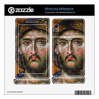 Vintage Jesus Christ Portrait Medieval Mosaic Motorola Milestone Skin