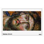 Vintage Jesus Christ Portrait Medieval Mosaic Wall Decal