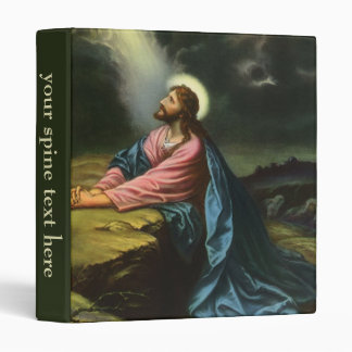 Vintage Jesus Christ Praying in Gethsemane Binder