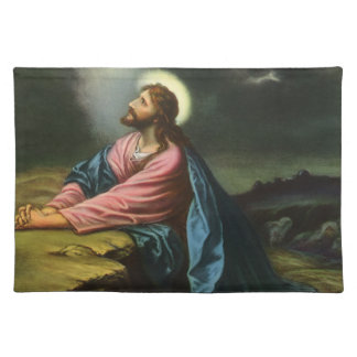 Vintage Jesus Christ Praying in Gethsemane Placemat