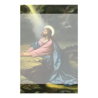 Vintage Jesus Christ Praying in Gethsemane Stationery