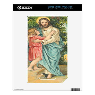 Vintage Jesus Holding Little Boy Skin For The NOOK Color