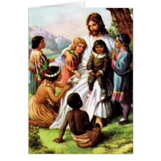 Vintage Jesus Loves All the Children Card