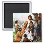 Vintage Jesus Loves All the Children Magnet
