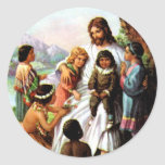 Vintage Jesus Loves All the Children Sticker