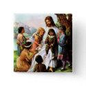 Vintage Jesus Loves Button button