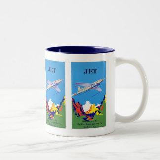 Vintage Jet Plane Label Ad Mug