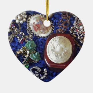 Vintage Jewelry Ceramic Ornament