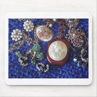 Vintage Jewelry Mouse Pad