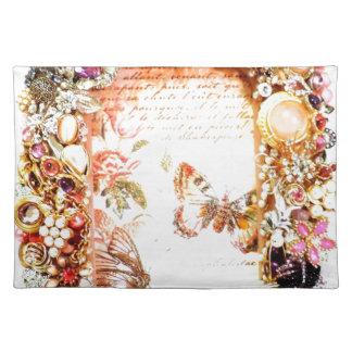 Vintage Jewels Butterflies Photo Design Placemats