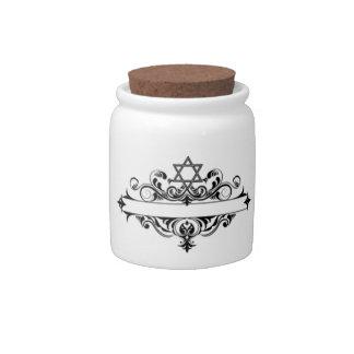 Vintage Jewish Header Candy Jars
