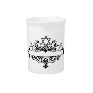 Vintage Jewish Header Drink Pitcher