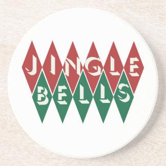 Vintage Jingle Bells Drink Coaster