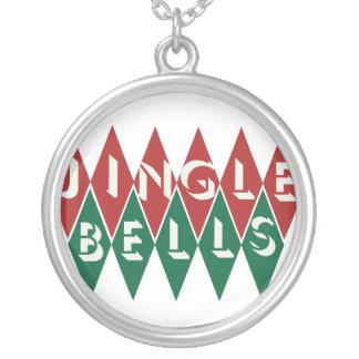 Vintage Jingle Bells Round Pendant Necklace