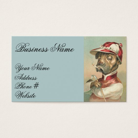 Vintage Jockey Dog Business Card