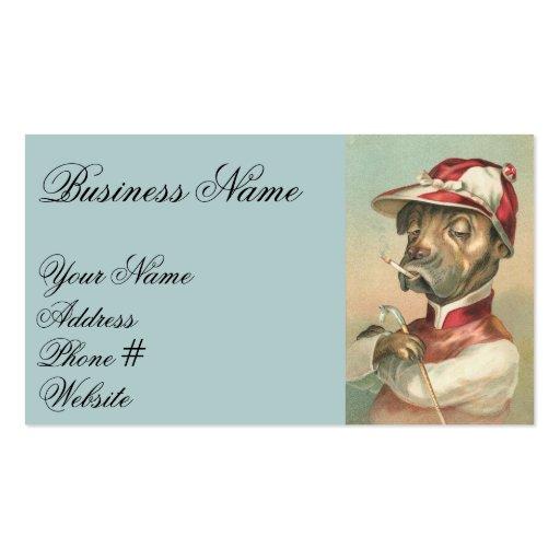 Vintage Jockey Dog Business Card Template