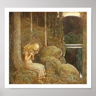 Vintage John Bauer Fairy Tale Illustration Poster