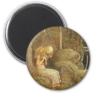 Vintage John Bauer Fantasy / Fairy Tale Art 2 Inch Round Magnet