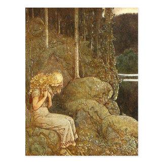 Vintage John Bauer Fantasy / Fairy Tale Art Postcard