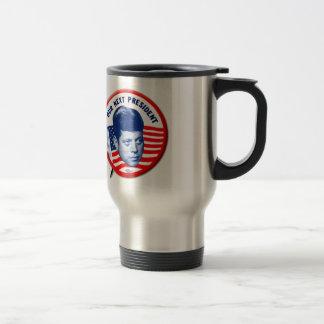 Vintage John Kennedy Our Next President Button Travel Mug