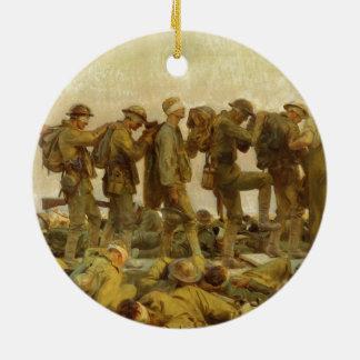 Vintage John Singer Sargent World War I Gassed Ceramic Ornament