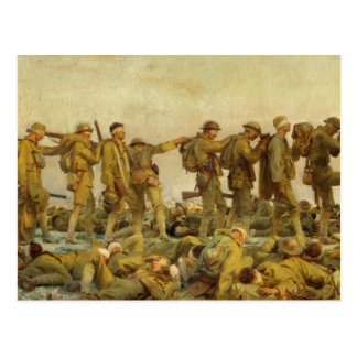 Vintage John Singer Sargent World War I Gassed Postcard