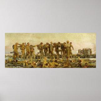 Vintage John Singer Sargent World War I Gassed Poster