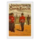 Vintage Johnston's Corn Flower Ad Greeting Card