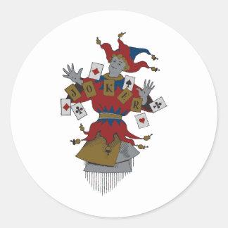 Vintage Joker Classic Round Sticker