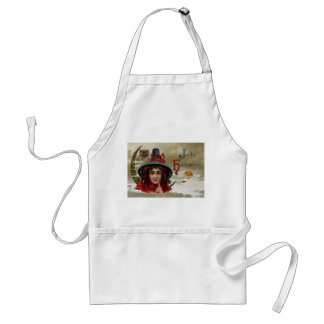Vintage Jolly Halloween Witch Adult Apron