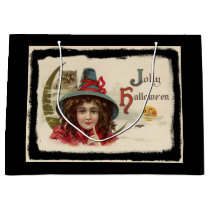 Vintage Jolly Halloween Witch Large Gift Bag