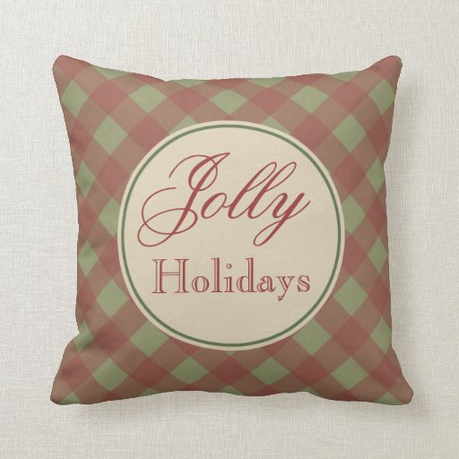 Vintage Jolly Holiday Pillow