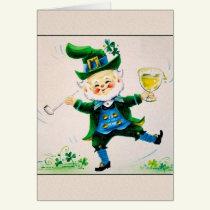 Vintage Jolly Leprechaun St. Patrick's Day Card.