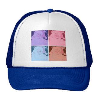 Vintage Jolly Old St. Nick Mesh Hats