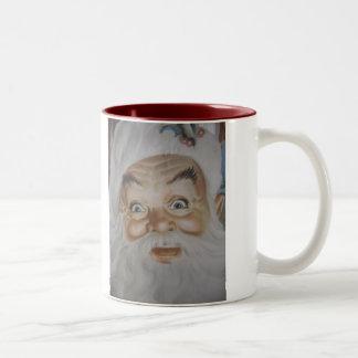 Vintage Jolly Old St. Nick Two-Tone Coffee Mug
