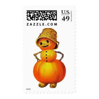 Vintage Jolly Pumpkin Postage