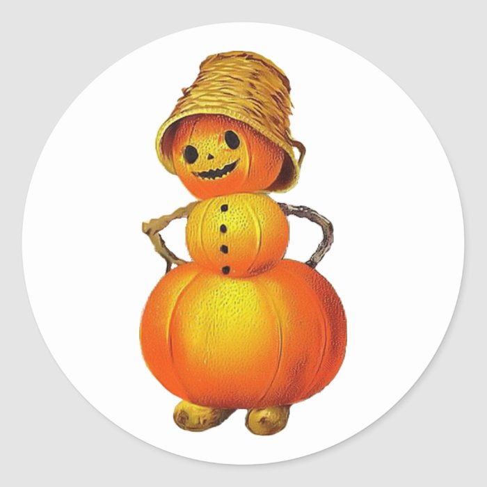 Vintage Jolly Pumpkin Sticker