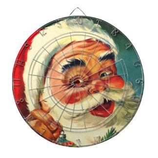 Vintage Jolly Santa Claus Christmas Dartboard