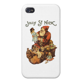 Vintage Jolly St. Nick iPhone 4/4S Case