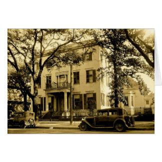 Vintage Jonathan Emanuel Mansion, Mobile Alabama Card