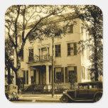 Vintage Jonathan Emanuel Mansion, Mobile Alabama Square Sticker