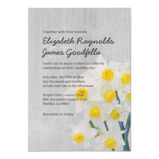 Vintage Jonquil Wedding Invitations