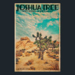 "Vintage Joshua Tree Travel Poster<br><div class=""desc"">Limited Edition design from our EXCLUSIVE Joshua Tree Collection</div>"