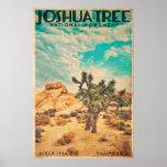 Vintage Joshua Tree Travel Poster