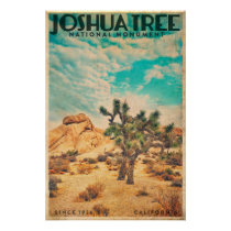 Vintage Joshua Tree Travel Poster