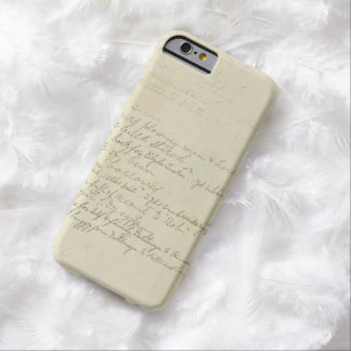 Vintage Journal Handwriting Barely There iPhone 6 Case
