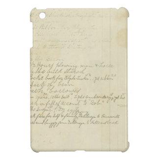 Vintage Journal Handwriting iPad Mini Cases