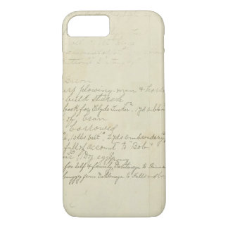 Vintage Journal Handwriting iPhone 7 Case